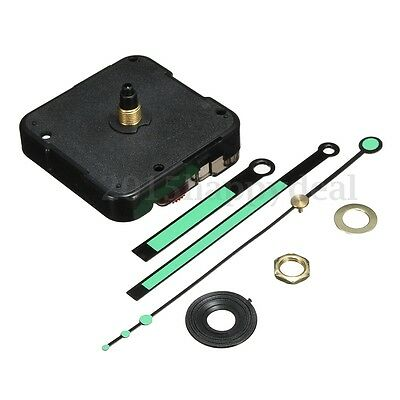 Mute Scanning Clock Movement Mechanism Motor + 3 Hands + Fittings DIY Kits