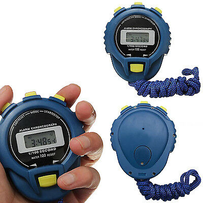 Be LCD Chronograph Digital Timer Stoppuhr Sport Zähler Pedometer Alarm Stopwatch