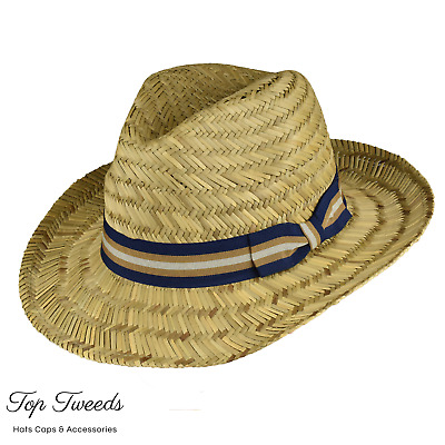 Straw Fedora [Large Sizes]