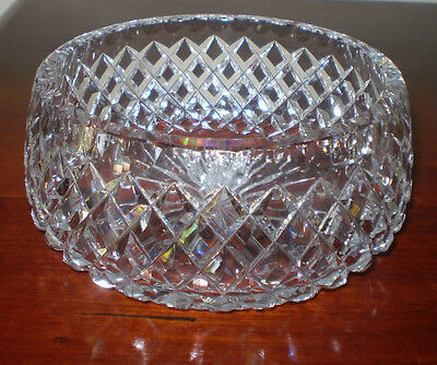 Beautiful Sparkly Heavy Cut Crystal Bowl
