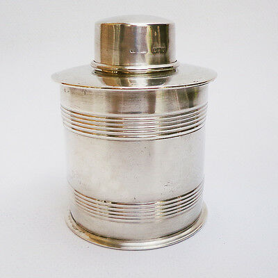 Antique Victorian SAMPSON MORDAN & Co., London, c.1910 STERLING SILVER TEA CADDY