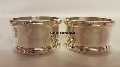 2 X Genuine RAF Royal Air Force Napkin Rings x 2 Officers Mess (A332)