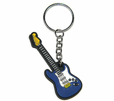 MD Brand Blue Guitar Keyring. Highly detailed and made of quality materials.