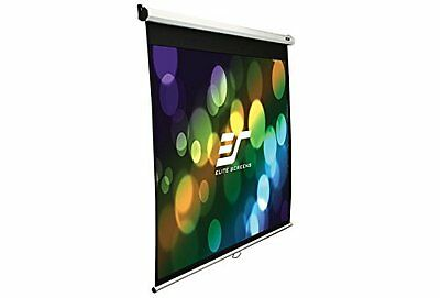 Elite Screens Manual SRM Series, 120-inch 16:9, Slow Retract Pull Down Projector