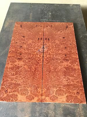 Black Box Burl Bookmatch Pair . Knife Timber . Luthier Drop Top #647