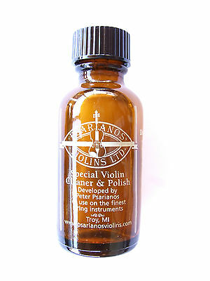 *NEW* Psarianos Violin Cleaner & Polish in 1oz Glass Bottle. Made in USA