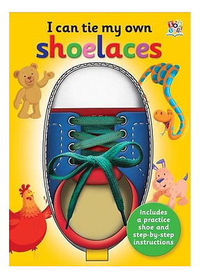 I Can Tie My Own Shoelaces Book and Integral Practice Shoe and Lace NEW FREE P&P