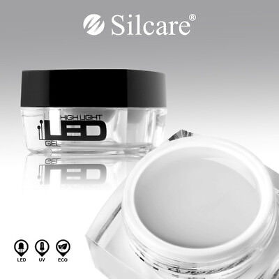 SILCARE High Light LED CLEAR UV Gel Nail BUILDER File Off MediumThick 4g 15g 30g