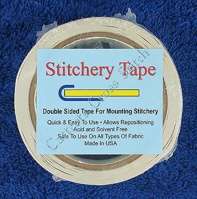 Double Sided Adhesive Stitchery Tape 38mm x 18.28M Acid & Solvent Free