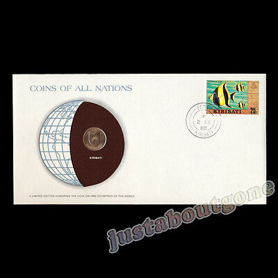 Kiribati 1979 1 Cent Fdc ─ Coins Of All Nations Uncirculated Stamp Cover Unc