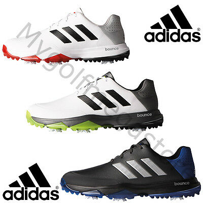 Adidas 2017 Adipower Bounce WD Spiked Golf Shoes Lightweight Waterproof - New.
