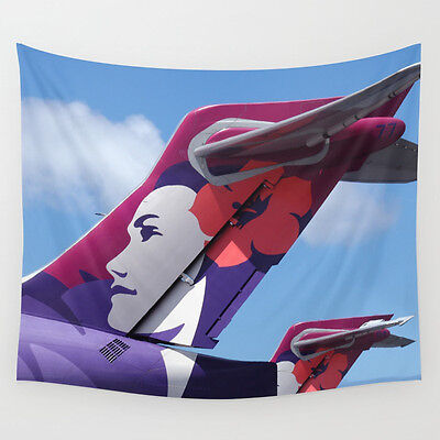 Hawaiian Airlines Boeing 717 Tails - 51x60 Wall Tapestry