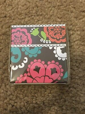 NEW Vera Bradley LOLA Sticky Notepad & Sticky Page Flags Pocket STICKIES
