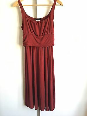 Mothers En Vogue Nursing Wrap Dress Size S Small Wine Red Jersey Hidden Feeding