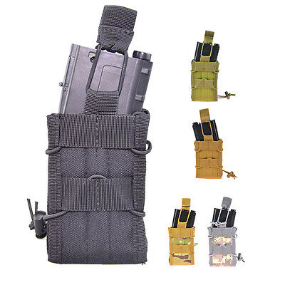 Tactical Single Molle Quick FAST Mag Magazine Pouch For M4 AR AK Series Magazine