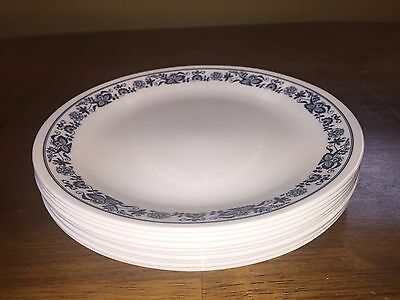 Set of 10 Corning Corelle Old Town Blue Onion Dinner Plates - Look unused!