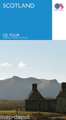 SCOTLAND Travel Map - OS - Ordnance Survey - NEW 2016