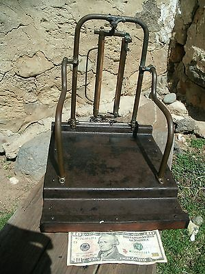 Antique Rare Salesman Sample of a COW STANCHION complete with stall and gutter
