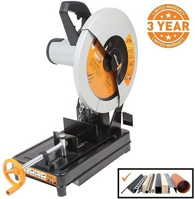 Evolution Power Tools 14 Inch Multi-Purpose Chop Saw Corded for Steel Wood New