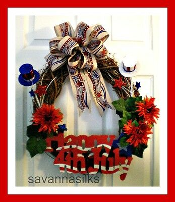 4th of July Wreath/Grapevine