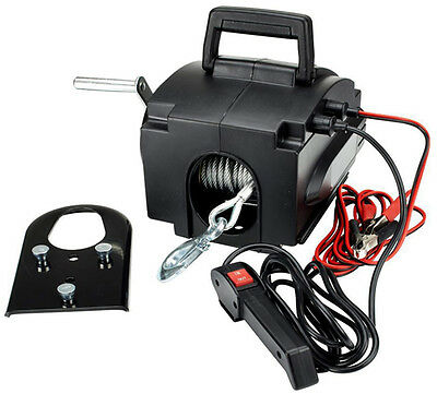 12v x 1588kgs MARINE BOAT TRAILER RECOVERY WINCH electric ATV quad caravan 4 X 4
