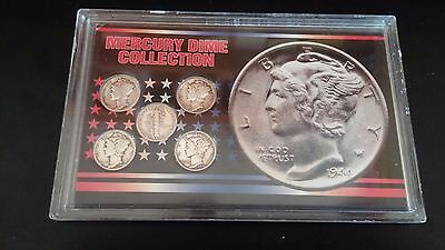 Mercury Dime Collection - Lot of 5 - 90% Silver / 10% Copper