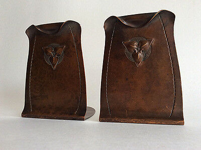 Antique Roycroft Arts & Crafts copper bookends Vintage mission Roycrofters