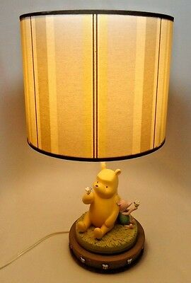 """Winnie The Pooh and Piglet with Honey Bees Lamp 17"""""""