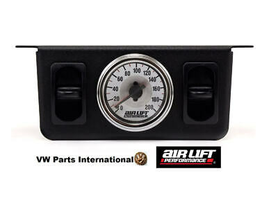 Air Lift Performance Dual Needle Gauge Dials with two paddle switches 200 PSI