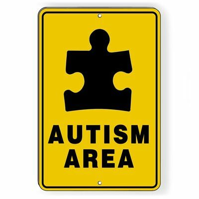 Autism-Area-Sign-metal-warning-driveway-