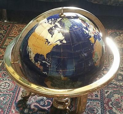 "Vintage Antique Style Large Gemstone Mother of Pearl Globe 12""/18''"