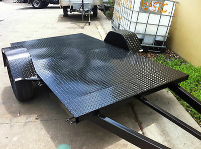 Brand new Trailer quad  bike 9X5 FT HEAVY DUTY CHEQUER PLATE flat bed atv buggy