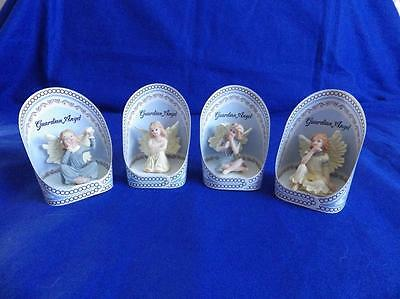 Guardian Angels Set Of Four Ornaments / Figurines