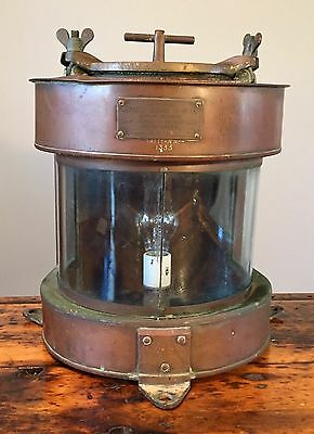 Vintage William HARVIE & CO. LTD Copper Brass Marine Lantern Birmingham Large
