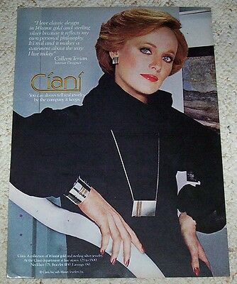 1977 ad page - Monet Ciani Jewelry COLLEEN TERIAN vintage 1-page PRINT ADVERT