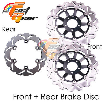 Front Rear SS Brake Disc Rotor Set For Kawasaki ZX250 ZXR 250 R year 89 90