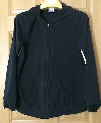 Motherhood Maternity Black Zip Up Lightweight Hoodie. LARGE.