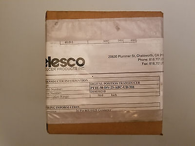 CELESCO PT1E-50-DN-25-ABC-UD-M6 Digital Position Transducer, 50in. Cable Encoder