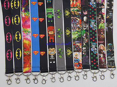 Marvel DC Superheros Lanyard Neck strap Black ID Card Badge Holder Key Chains