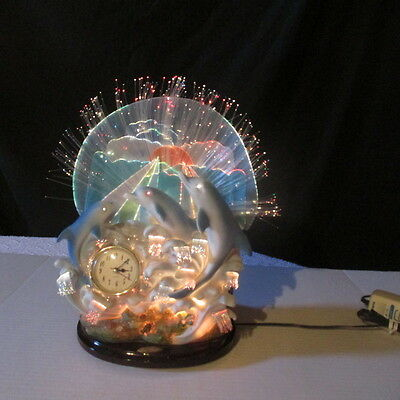 De Capoli Fiber Optic Dolphin Clock