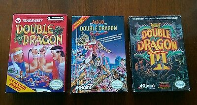 Double Dragon Trilogy lot 1,2,3 Nes Nintendo Entertainment System, Complete CIB