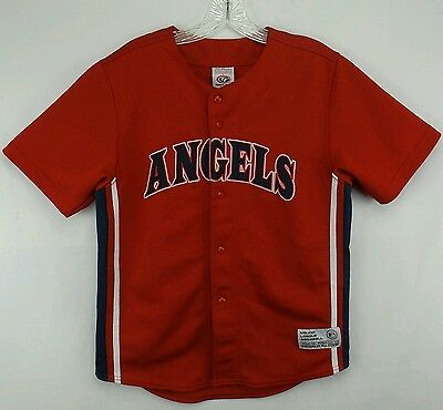 6da1fe17e Vintage TRUE FAN Anaheim Angels Francisco Rodriguez Baseball Jersey Size  Youth L