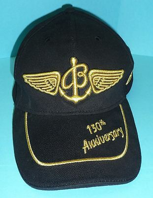 Breitling 130th Anniversary Ball Cap Hat Black + Gold One Size NEW