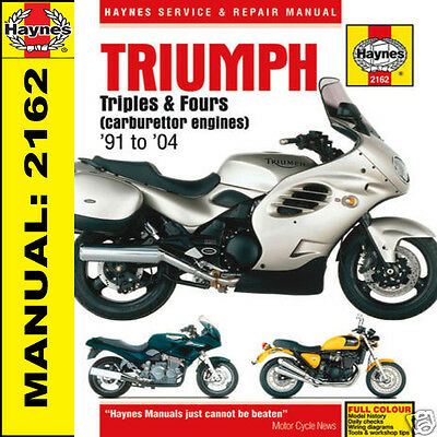 TRIUMPH TROPHY TIGER TRIDENT SPRINT 900 1200 1991-2004 manuale haynes 2162 NUOVO