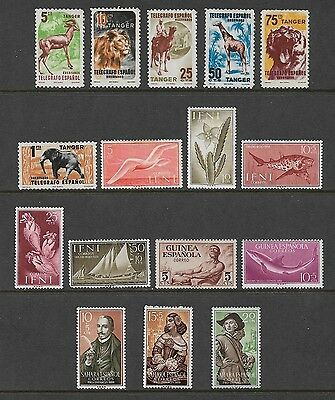 SPANISH COLONIES - mixed collection No.2, Tanger Ifni Guinea Sahara, mint no gum