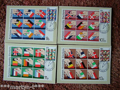 PHQ Card set FDI Front No 35 European Assembly 1979. 4 card set  Mint Condition