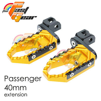 Multi Step Gold 40mm Tour Rear Foot Pegs Fit Ducati Monster 1000 /ie All