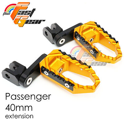 Multi Step Gold 40mm Tour Rear Foot Pegs Fit Yamaha YZF R1 2014