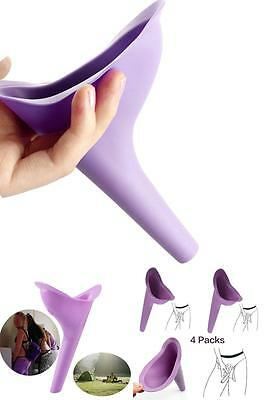 4 Pc Outdoor Travel Female Urine Lady Toilet Urinal Funnel Urination Device Soft