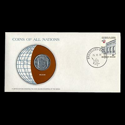 Belgium 10 Franc 1976 Fdc ─ Coins Of All Nations Uncirculated Stamp Cover